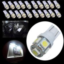 20X T10 194 168 5050 W5W 5 SMD LED Veilleuses feux Ampoule voiture blanc lampe