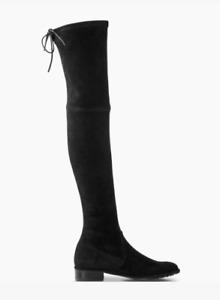 Stuart Weitzman NEW Lowland Black Suede Over The Knee OTK Boots $798 Authentic