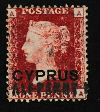 Cyprus 1881 QV 1/2P O/P  BROKEN Letters & AA DOUBLING  (EXTREMELY INTERESTING)