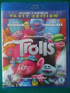 TROLLS Party Edition (DreamWorks UK Blu-ray 2016) Animation NEW! SEALED! (7)