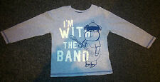 Nutmeg Infant Boy 4-5Y Infant Long Sleeve Smart Casual Top ' I'm With The Band '