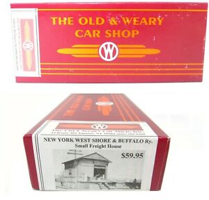 Old & Weary Car Shop HO Laser Wood Small Freight House Train Structure Kit RARE