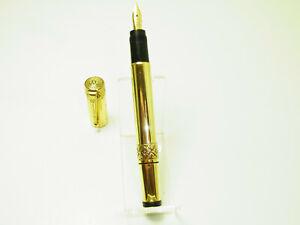 Rare FENDOGRAPH Overlay Safety Fountain Pen Flexy 14ct F Nib SERVICED EF to BB