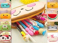 Cute Soft Plush Pencil Pen Case Novelty Makeup Cosmetic Pouch Bag Zipper