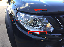 Mitsubishi Triton MQ 2016+ Matte Black Head Lights Cover Trims EXCEED GLS GLX