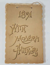 """Antique 1891 Calendar """"With Modern Authors"""" Quotes and Poems Alice F. Stevens"""