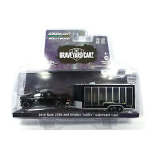 Greenlight 32130 Dodge Ram 2500 Noir avec Remorque 2016 Échelle 1:64 Neuf °