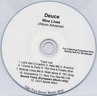DEUCE Nine Lives 2012 UK 12-trk advance promo test CD
