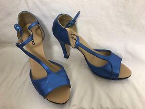 Repetto Cobalt Platform strappy sandals 41 HOLLYW SAL AD Salome NIB