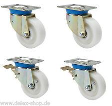 Satz Schwerlastrollen Polyamid 80 mm Transportrolle Lenkrollen mit ohne Bremse