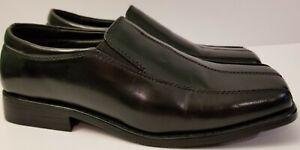 Stacy Adams Black Dress Loafers Boys Shoes Slip On Size 5 M Model 41249B-01