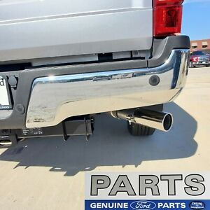 17 - 20 NEW Ford Super Duty OEM Right Rear Chrome Step Bumper w/ Backup Sensors