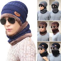 Women/Men Winter Crochet Wool Knit Skull Hat Ski Cap Beanie Baggy Scarf Outdoor