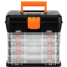 New DIY Tool Carry Bag Case Storage Plastic Box Organiser Lockable Drawers Screw