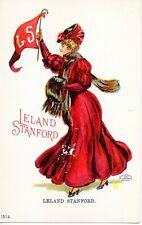 65845. Orig 1905 College Sports Girl Postcard Leland Stanford University Calif