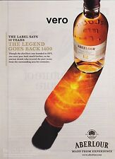 ABERLOUR 2014 print ad scotch whisky alcohol magazine page clipping advert