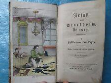 WALLMARK : RESAN TILL STOCKHOLM, AR 1913, 1819. 4 planches coloriées.