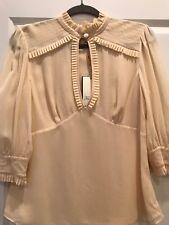 Temperly London Silk Short Sleeves Blouse Size UK 12 US 8 - NWT