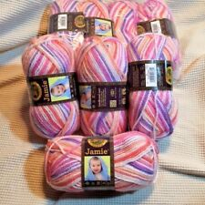 ONE (1) NEW Lion Brand Jamie Baby Summer Stripes 40 grams 109 yds Size 3