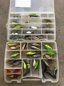 Used Rapalas Rapala, Bill Dance, Paw Paw, and more Fishing Lures + parts + case