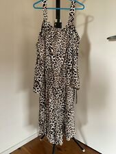 New with Tags AGB Leopard Print PLAYSUIT, Large, Women's Fashion, Batwing Sleeve