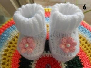 chaussons bébé laine,bébé fille,cadeau bebe naissance,chaussures bébé tricot
