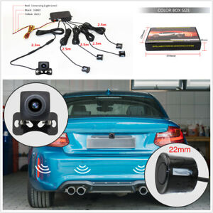 1pcs WIFI Camera + 4pcs Reversing Radar Waterproof Fit For Car Driving Safety