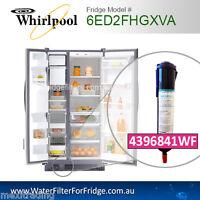 WHIRLPOOL FRIDGE MODEL 6ed2fhgxva01 replacement water filter par number 4396841