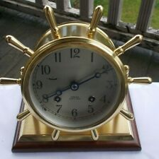 """Vintage Brass Chelsea Ship's Bell Key Wind 8"""" Clock Limited Edition #574 Admiral"""