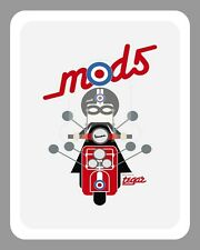 """10"""" x 8"""" VESPA MODS SCOOTER SCOOTERIST ROUNDEL BRIGHTON METAL PLAQUE SIGN N111"""