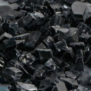 """Fire Glass for Fireplace Grey 1/2"""" Premium Reflective and Fire Pit BALI OUTDOOR"""