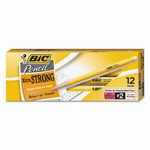 Bic Xtra-Strong Mechanical Pencil, 0.9 Mm, Hb (#2.5), Black Lead, Yellow Barrel