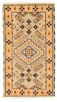 """Hand-knotted Carpet 2'1"""" x 4'0"""" Royal Kazak Grey Wool Rug"""