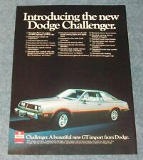 """1978 Dodge Challenger Vintage Color Ad """"Introducing The All New..."""""""
