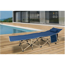 VILOBOS Folding Camping Bed Military Sleeping Lounge Chair Hiking Travel Cot New