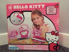 Entièrement neuf dans sa boîte Hello Kitty Bijoux Fashion Set Vanity Carry Case Playset
