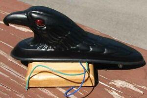 NOS ILLUMINATED BLACK EAGLE HOOD ORNAMENT MASCOT THE EYES LIGHT UP #F372