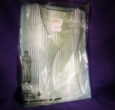 Nos Vintage 1970-80's Ely striped Men's 2 Piece Pajama Set Size S made in Usa