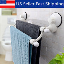 Suction Cup Wall Mounted Bathroom Double Towel Rail Holder Storage Racks Bars