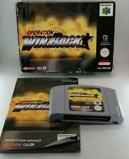 Operation: Winback Video Game for Nintendo N64 PAL BOXED + PROTECTOR TESTED