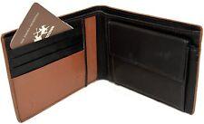 Portefeuille En Cuir La Martina Homme amène cartes porte-monnaie brun foncé