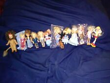 Vintage Lot of 14 little dolls Barbies Kelly Barbie Lion Wizard of Oz And More