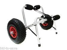 Aluminum Kayak Jon Boat Canoe Gear Dolly Cart Trailer Carrier Trolley Wheels NEW