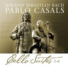 CD Bach cello suites 1-6 de johann sebastian bach, pablo casals 2cds