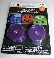 Purple Halloween Magnet Pail Lights package of 2