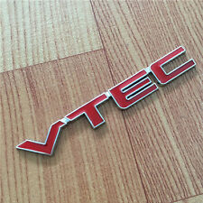 Car Auto Metal Red VTEC Letter Sticker Fender Decal Emblem For Honda Accord CRV
