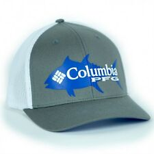 NEW COLUMBIA PFG MESH HAT CAP - SNAP BACK - GRAY - TUNA - HOT