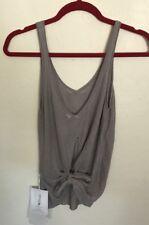 NWT Lululemon Size 8 Taryn Toomey Heart Opener Knit Cami Tank Gray DKCH