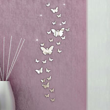 30PC Butterfly Combination 3D Mirror Wall Stickers Home Decoration DIY
