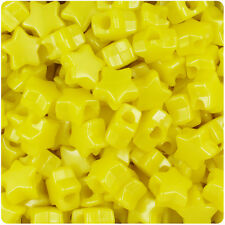 250 Yellow Pearl 13mm Star Pony Beads Made in the USA
